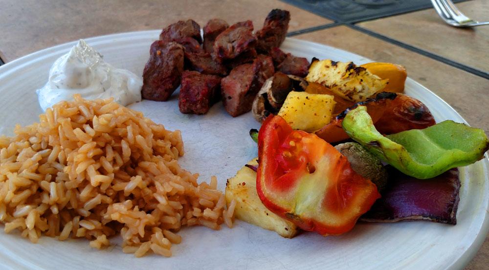 Pellet grill kebabs