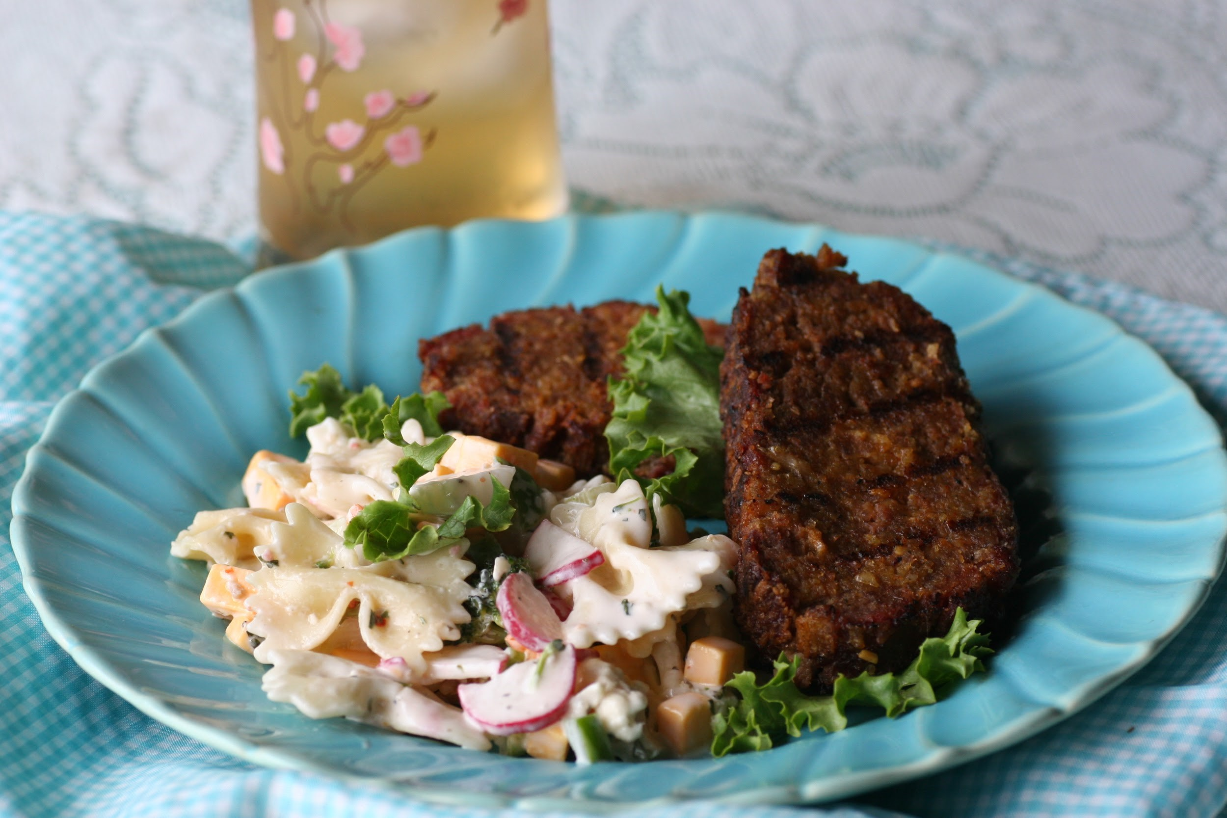 Meatloaf and a cool salad