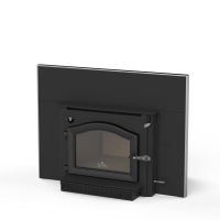 Shown with Cast Black Door, 28 x 38 Surround Panel, Surround Trim Kit and Blower