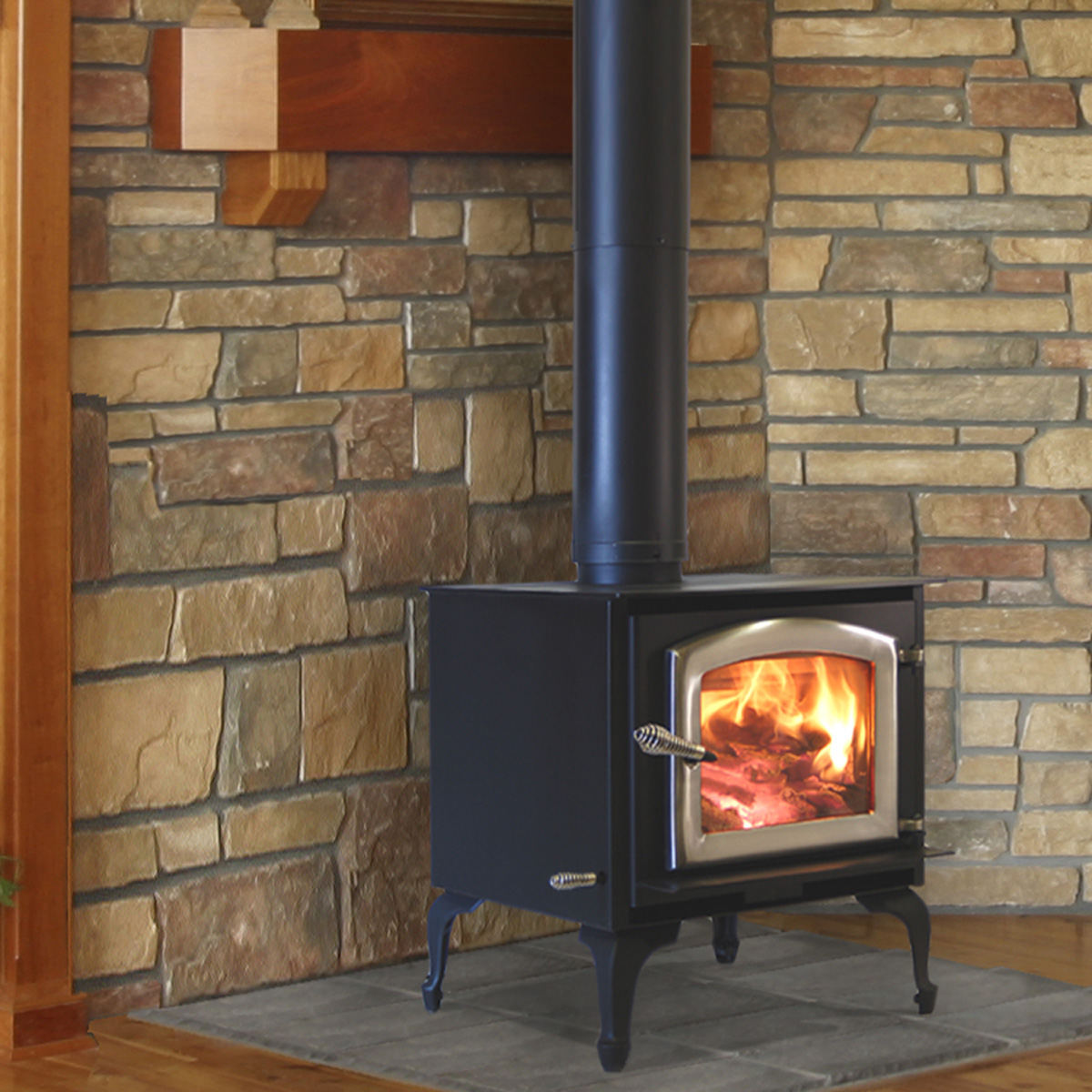 Kuma Aspen wood stove, made in the USA
