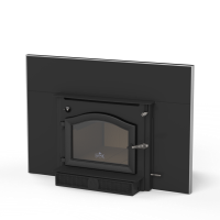 Shown with Cast Black Door, 30.5 x 44 Surround Panel, Surround Trim Kit and Blower
