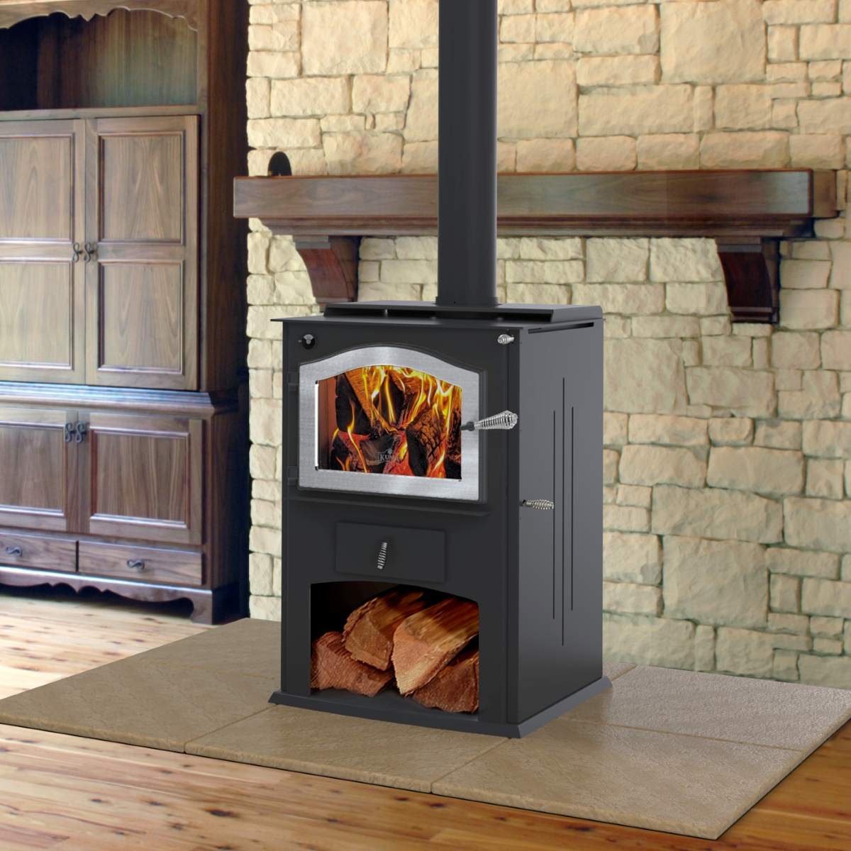 Kuma Cambridge LE wood stove, made in the USA