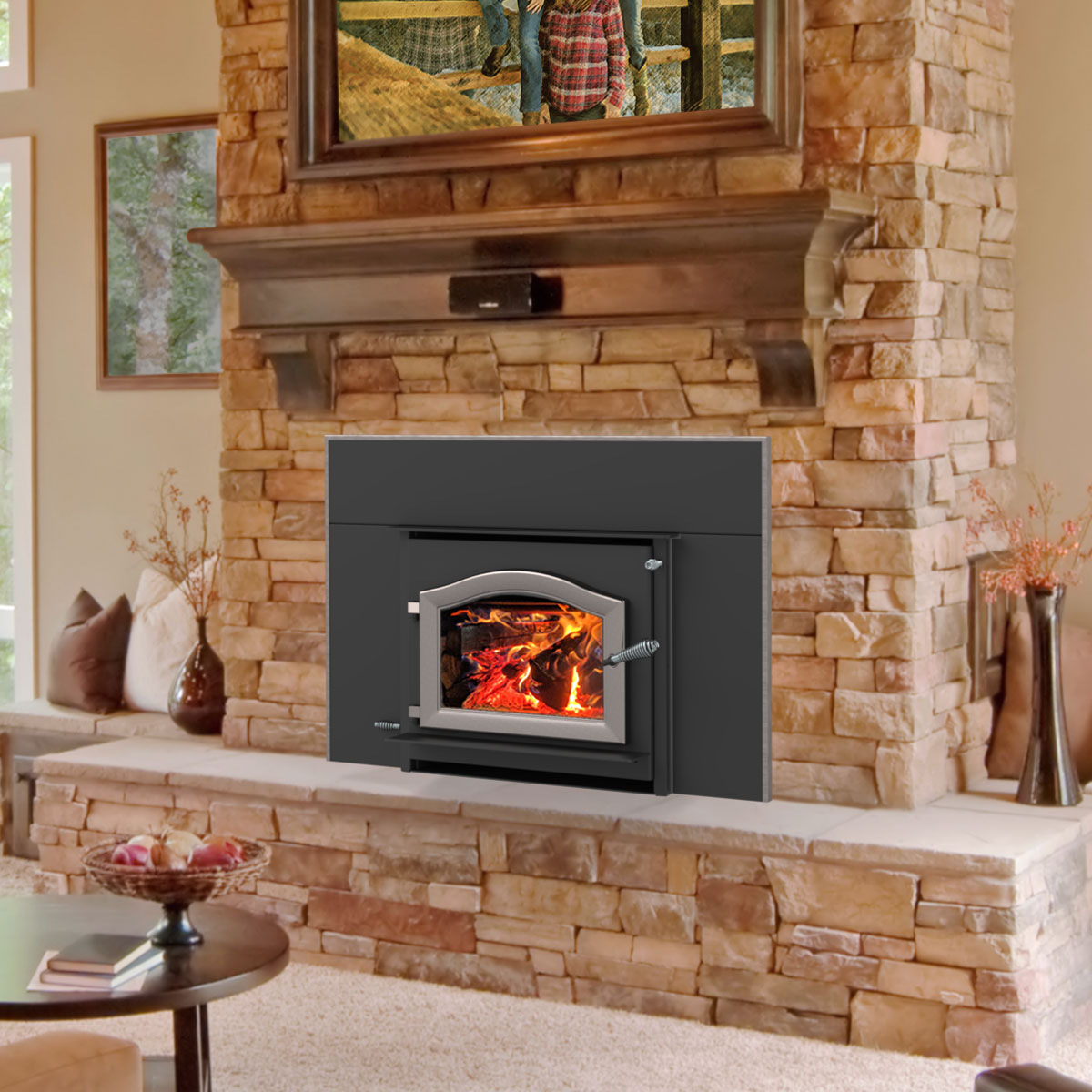 Kuma  Cascade LE wood fireplace insert, made in the USA