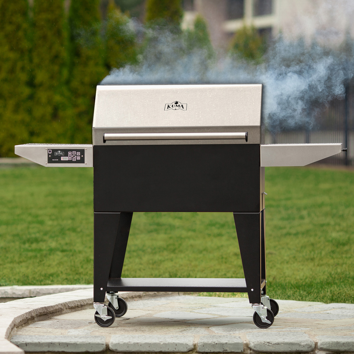Kuma Platinum SE pellet grill, made in the USA