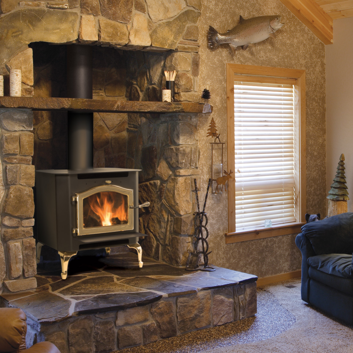 The Sequoia wood stove boasts the highest tested effeciency of any stove in North America
