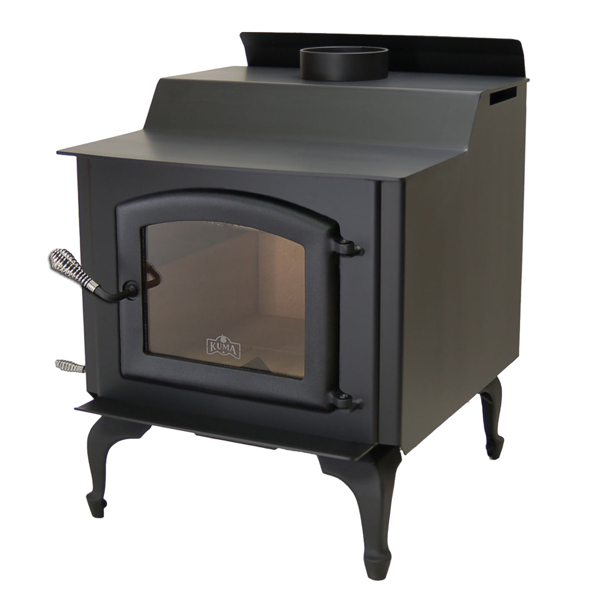 Kuma Wood Classic wood stove with cast legs and black door - Wood Classic Wood Stove And Fireplace From Kuma Stoves