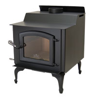 Kuma Wood Classic wood stove with cast legs and black door