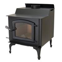 Kuma Wood Classic wood stove with cast legs and black door