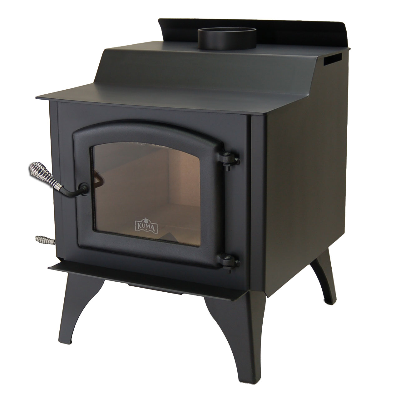 Kuma Wood Classic wood stove with steel legs and black door
