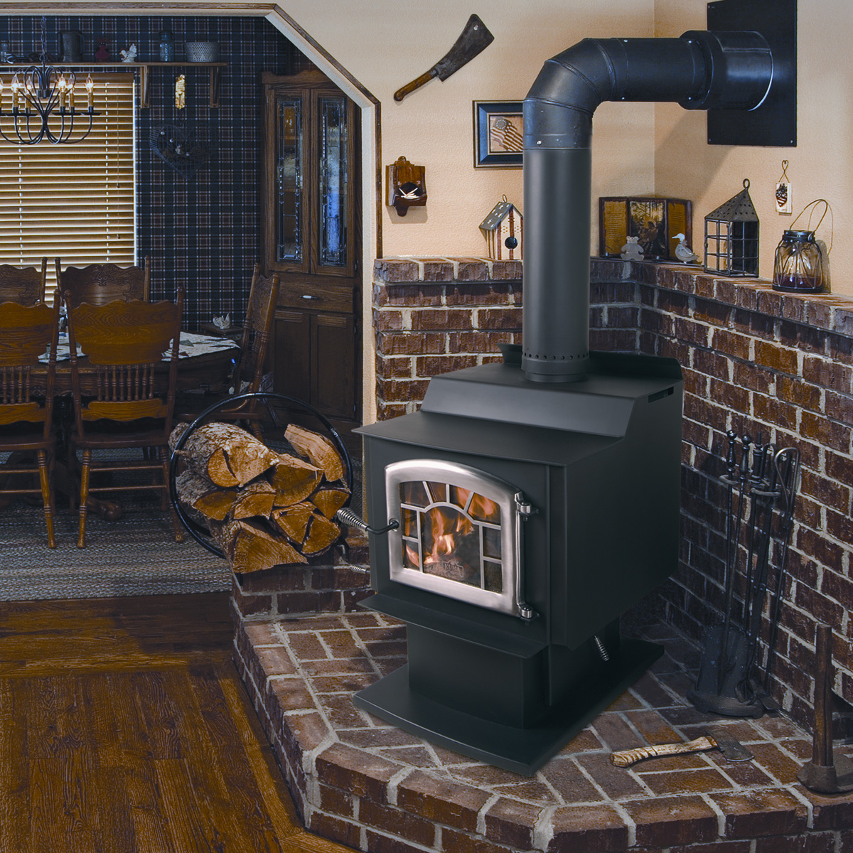 Kuma Wood Classic wood stove, made in the USA