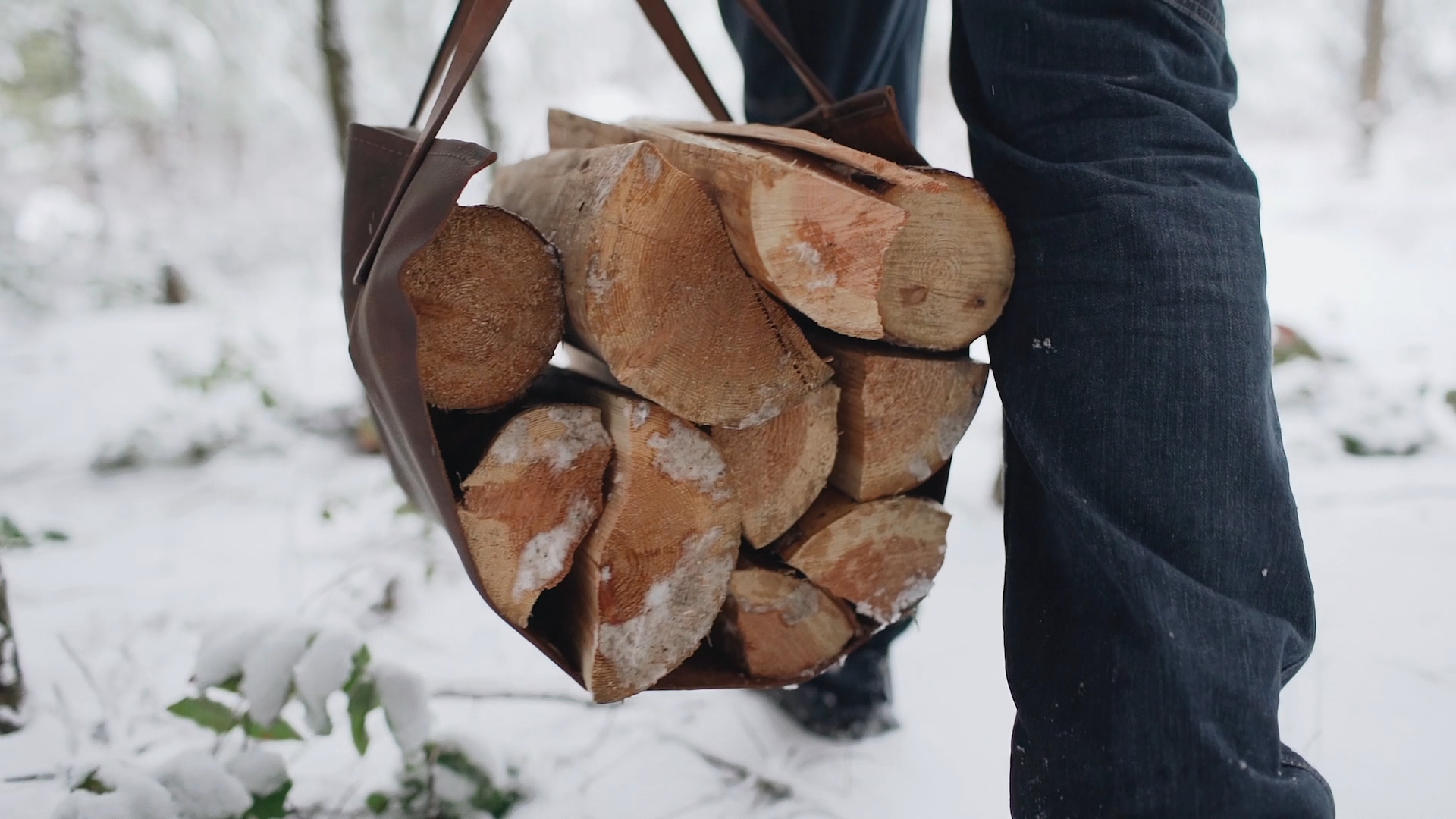 Hauling Wood to a wood stove