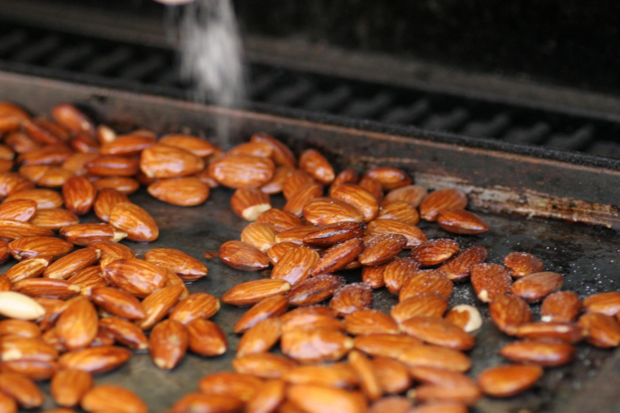Smoked Seasoned Almonds On Pellet Grill