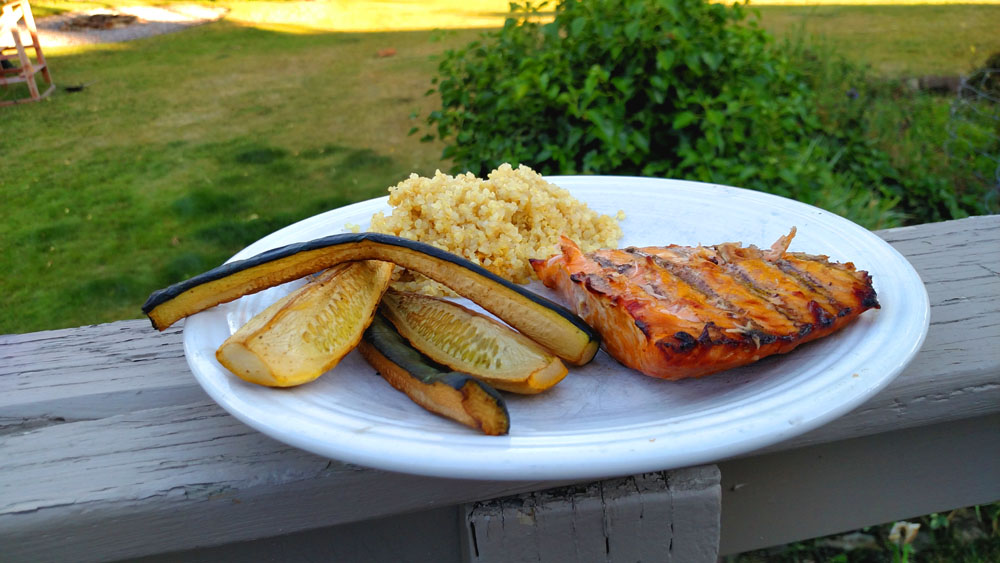 hot smoked honey ginger salmon