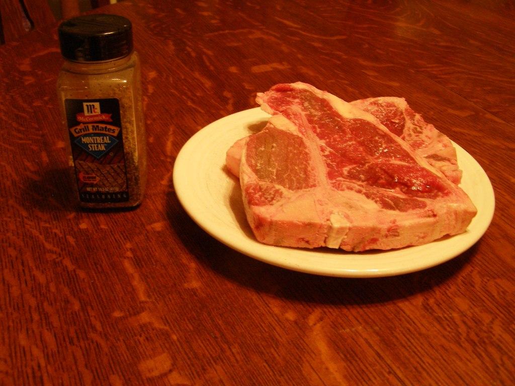 T-bone Steak Pellet Grill