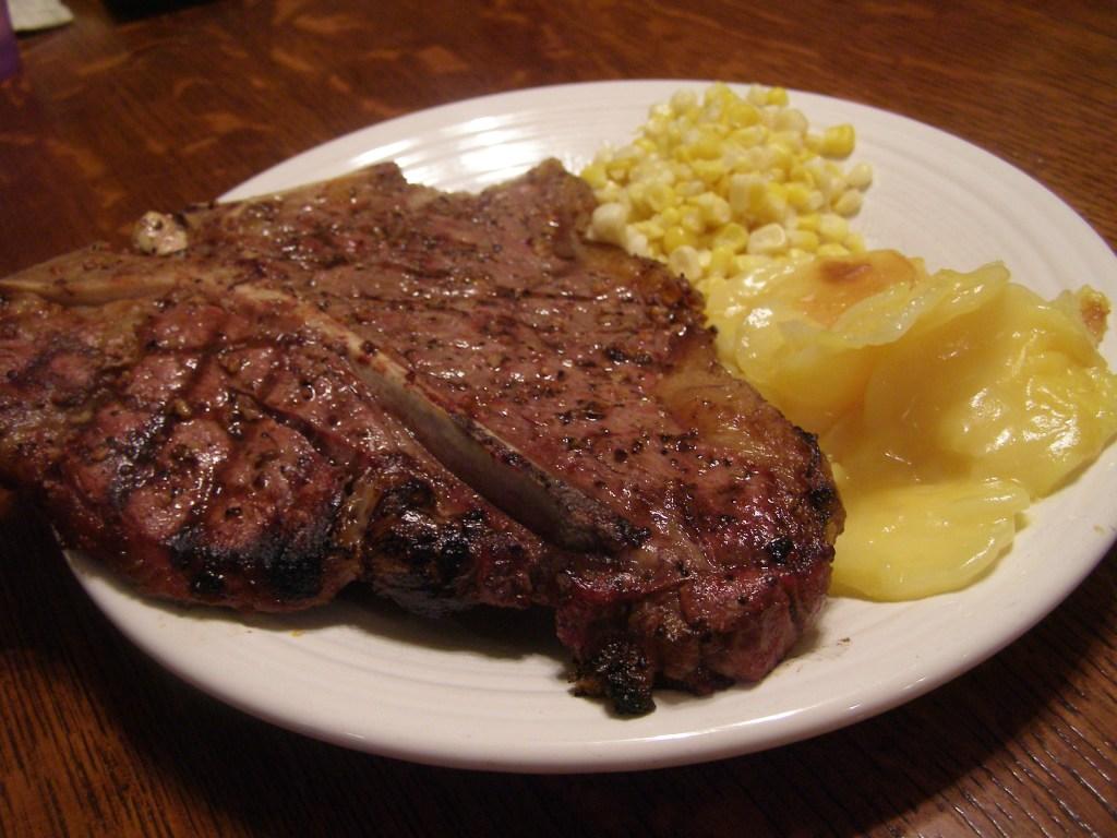 T-bone Steak & Potatoes cooked on the Kuma SE
